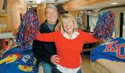 "For about six months of each year, Bob and Julie Luce try to attend every Kansas University home game in many sports. Because their home is in South Carolina, they spend much of their time living and working in a 40-foot motor home in North Lawrence. ""We&squot;re going to do this for as long as we can,"" Bob Luce says."