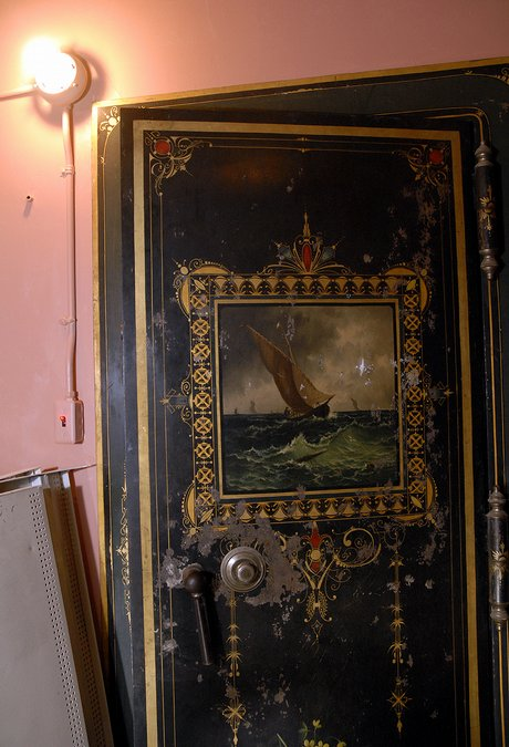 An ornately painted vault door still guards the safe deposit boxes on the  third-floor of the former bank, now the home of the Watkins Community  Museum of ... - Watkins Museum / LJWorld.com