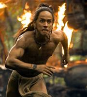 "Rudy Youngblood stars in Mel Gibson&squot;s ""Apocalypto."""