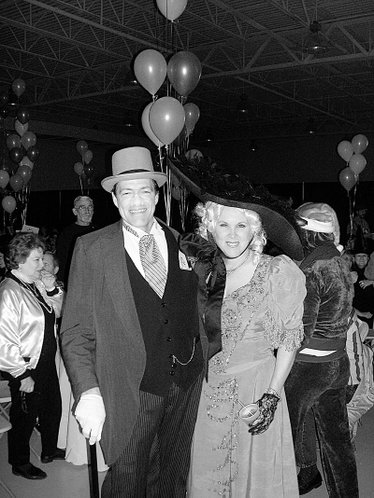 Drs. Dale and Patricia Denning dressed up as W.C. Fields and Mae West at the Stepping Out Against Breast Cancer event Oct. 28 at the Crown Toyota Pavilion. Patricia Denning served as honorary co-chair of the event, which was sponsored by the Lawrence Memorial Hospital Endowment Association and raised $53,000 for the Breast Center at the hospital. 
