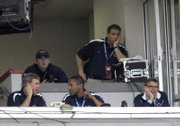 Penn State coach Joe Paterno, lower right, coaches the Outback Bowl against Tennessee from the press box. Penn State won, 20-10, Monday in Tampa, Fla.