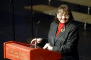 Diane Nash, a civil rights leader and activist, was the guest speaker Monday night during the Dr. Martin Luther King Jr. Holiday Observance at the Lied Center. Nash said that while leaders like King were symbols of the movement, it was the actions of hundreds of thousands of ordinary people that brought about lasting change.