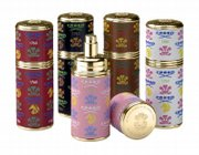 Royal Ceylan perfume comes in refillable atomizers from the Creed perfume company.