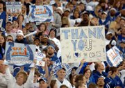 INDIANAPOLIS COLTS FANS WELCOME THE TEAM to the RCA Dome for a Super Bowl rally. The fans honored the team Monday, less than 24 hours after Indy's 29-17 victory against Chicago in Super Bowl XLI.
