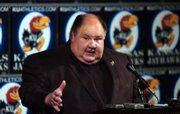 Kansas University football coach Mark Mangino talks about his 2007 recruiting class. KU announced the signing of 18 high school players Wednesday.