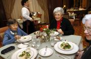 Residents Betty Cable, from left, Inge Berliner and Doris Bebb, dine at San Francisco Towers retirement community in San Francisco. As residences designed for a generation that came of age during the Great Depression make way for one that entered adulthood amid postwar prosperity, more and more retirement communities are experiencing culture clashes.