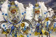 Revelers perform Saturday during the parade of Imperio de Casa Verde samba school at the Sambadrome in São Paulo, Brazil.