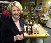 """Leslie Sbrocco attends a wine and food event at Tuscan Gardens in Petaluma, Calif. Sbrocco is the author of """"Wine for Women."""" Next week is the first National Women&squot;s Wine Competition in Northern California."""