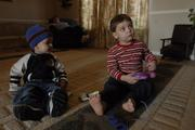 The Woodcock brothers, Ryan, left, two years-old, and Haden, three years-old, both tested high for lead levels in their blood.  The Kansas Department of Health and Environment considers anything above five as something to be concerned about and ten and above is lead poisoning.  Haden, who was born with a clubfoot, a birth defect, tested the highest with a rating of ten.