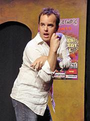 Jeff Drake performs at the Los Angeles Improv Comedy Festival.