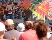 Guitarist of Tea Leaf Green, Josh Clark, performs at last year's Wakarusa Music & Camping Festival. About 70 bands will perform at this year's festival from June 7 to June 10 at Clinton State Park. The festival is now in its fourth year.