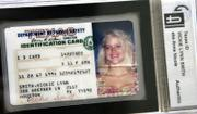Anna Nicole Smith's Texas ID card is among the items that will be auctioned in a few weeks.