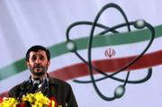 Iranian President Mahmoud Ahmadinejad speaks at a ceremony in Iran's nuclear enrichment facility in Natanz, 186 miles south of capital city Tehran, Iran. Iran announced Monday that it has begun enriching uranium with 3,000 centrifuges, a dramatic expansion of a nuclear program that has drawn U.N. sanctions and condemnation from the West.