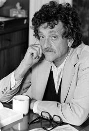 "Author Kurt Vonnegut Jr. is shown in New York City in 1979. Vonnegut&squot;s wife said the satirical novelist of works such as ""Slaughterhouse-Five"" and ""Cat&squot;s Cradle,"" died Wednesday at age 84."