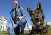 More relaxing times are in store for Gero, a 7-year-old German shepherd that has been with the Douglas County Sheriff's Office for four years. Gero, who was used for narcotics detection, building searches and tracking, will retire to the life of household pet, living with Sgt. Ed Swanson and his family.