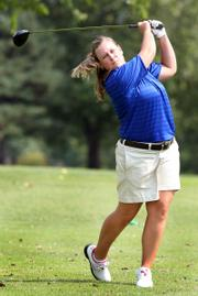 Kansas University senior Amanda Costner won the Big 12 Conference individual title Wednesday in Waco, Texas. It was her first individual title in two years.