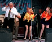 Former Russian President Boris Yeltsin dances at a rock concert on June 10, 1996, in Rostov, Russia. Part of the late leader's legacy will be his bizarre stunts.
