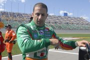 Tony Kanaan won the pole for today's Kansas Lottery 300. Kanaan had the fastest qualifying time Saturday at Kansas Speedway.