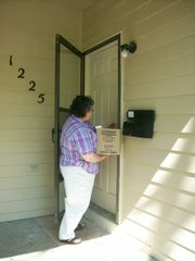 Janet Ikenberry is our Community Services Program Manager.  Once a month she delivers commodities to homebound seniors.  On May 10th, between 11 and 2 she made her deliveries.