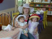 Patricia Carpenter, along with her daughters Madeline and Abbie, enjoy an outing to Madame Hatters Tea Room in Eudora.