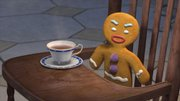 "The Gingerbread Man gets surly in ""Shrek the Third."""