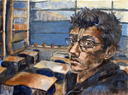 LHS student Abhimanyu Sandal, shown in this self-portrait, won a Gold Key ...