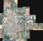 "This is a Natural Color Mosaic of Greensburg taken May 14 by the Kansas Applied Remote Sensing Program. More aerial images of Greensburg can be found at <a href=""http://www.kars.ku.edu"">www.kars.ku.edu</a>."