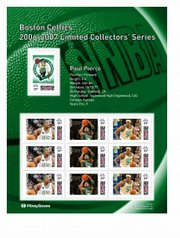 Boston's Paul Pierce is also among the 20 NBA standouts featured in a new NBA postage series.