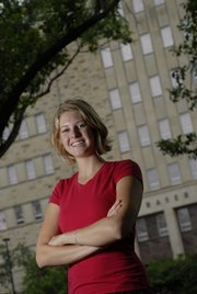 Kansas University student body president Hannah Love is a senior from Garden City. She served three years with KU's Student Senate before running for    president.