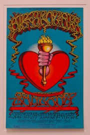 Artist Rick Griffin's poster for a Fillmore West concert featuring Big Brother and the Holding Co., Santana and Chicago Transit Authority is one of many first-printing items collected by the Spencer Museum of Art.