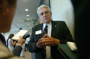 "House Speaker Melvin Neufeld says he wants more emphasis on Kansas from the $800 million, 10-year plan to help Kansas University Medical Center expand staff and facilities. Neufeld said the plan ""ignores"" KUMC&squot;s Wichita campus. The plan was announced Tuesday at the Kansas Life Sciences Innovation Center in Kansas City, Kan."