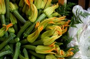 Squash blossoms can be used as garnish or as part of a recipe. Other edible flowers include dandelion, allium, sweet violet and more.