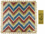 Presidential candidates James A. Garfield and Winfield S. Hancock are pictured on the 1880 campaign ribbons that make up this quilt. Because of its artistry and historic interest, it sold for $14,340 at a Heritage Galleries auction. Bidders were online and on the auction floor in Dallas.