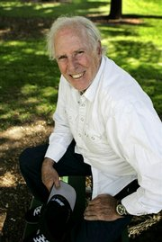 "Actor Bruce Dern sits at a park near his home in Pasadena, Calif. Dern, who has starred onscreen in ""Coming Home,"" ""The Cowboys,"" ""Monster"" and TV&squot;s ""Big Love,"" recently released a new memoir, ""Things I&squot;ve Said, But Probably Shouldn&squot;t Have."""
