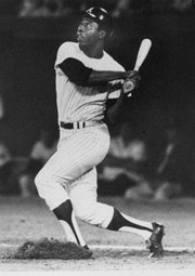 Hank Aaron hits his 600th career home run on April 28, 1971.