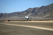 In this photo released by the Department of Defense, an MQ-9 Reaper unmanned aerial vehicle taxis into Creech Air Force Base, Nev. The Reaper can carry 14 air-to-ground weapons - or four Hellfire missiles and two 500-pound bombs.