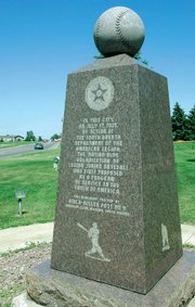 "The granite monument on the corner of ""Unity Square"" proclaims Milbank, S.D., as the birthplace of American Legion baseball. Legion baseball is played by high school-age children in all 50 states."