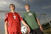 Seniors Wade Billings, Lawrence High, left, and Andrew Heck, Free State, hope to lead their teams this fall.