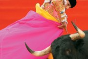 Spanish bullfighter Ivan Vicente fights a bull in Pamplona, northern Spain, in this July 7 file photo. State-run Spanish TV has ended live coverage of bullfighting, on grounds the sport is too violent for young viewers.