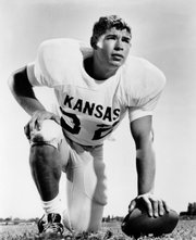 Running back John Riggins played at Kansas University from 1968-70. Already a member of the Pro Football Hall of Fame, Riggins compiled 2,659 rushing yards at KU.