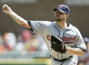 Cleveland's Jake Westbrook delivers against Detroit. The Indians defeated the Tigers, 3-1 in 10 innings, Thursday in Detroit.
