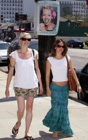 """Authors of the new diet book """"Skinny Bitch,"""" Rory Freedman, left, and Kim Barnouin, experienced a sudden boost in popularity when Victoria """"Posh Spice"""" Beckham was seen with a copy."""