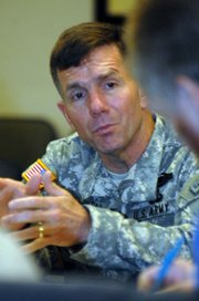 Lt. Gen. William B. Caldwell IV, the new commander at Fort Leavenworth, wants to encourage greater interaction between the military and civilian agencies such as the FBI and the U.S. State Depart-ment.