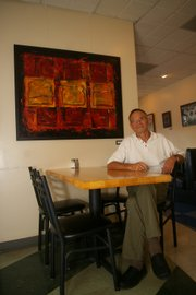 """Act Now,"" is one of Gary Hinman&squot;s works in his ""Toast to Lawrence"" exhibit, a tribute to the breakfast staple."
