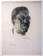 Aaron Douglas self-portrait (1954).