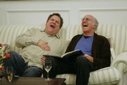 "This undated photo, supplied by HBO, shows Jeff Garlin, left, and Larry David in an episode of ""Curb Your Enthusiasm,"" which began its sixth season Sept. 9 on HBO. Garlin&squot;s film, ""I Want Someone to Eat Cheese With,"" is in some theaters now."