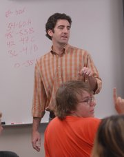 Jason Springer, Free State High School social studies teacher, teaches an Advanced Placement European History class in 2007.