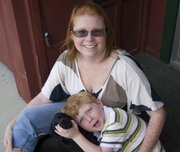 Donna Conrad, 27, shown with her son, Wesley, 4, underwent major surgery to correct a rare brain disorder known as Chiari malformation.
