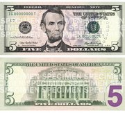 The front and Back of the new $5 bill were unveiled Thursday in Washington. The new bills will go into circulation sometime in the spring.