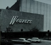 This 1971 photo shows the results of a fresh exterior remodeling project that covered the building's windows and brick facade, including the familiar Weavers sign that remains today. Joe Flannery, president, says he is considering a new logo that would add an apostrophe to the store's name.